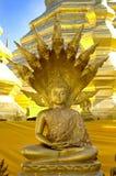 Golden buddha statue. Ancient golden Buddha in Bangkok, Thailand Stock Photos