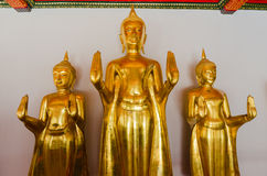 Golden Buddha Statue, The attitude of stopping the rainstorm, Wa Royalty Free Stock Image