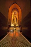 Golden buddha statue in a Bagan temple - Myanmar Royalty Free Stock Image