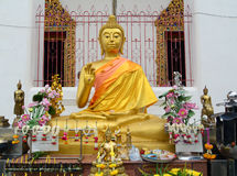 Golden Buddha statue in Bangkok Royalty Free Stock Images
