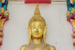 Golden buddha statue. Beauty half golden buddha statue Stock Photos