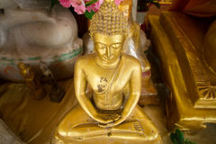 Golden Buddha Statue in Bodhgaya Stupa or Phuthakaya Pagoda at S Stock Photos