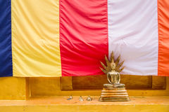 Golden Buddha Statue in Bodhgaya Stupa or Phuthakaya Pagoda at S Royalty Free Stock Photos