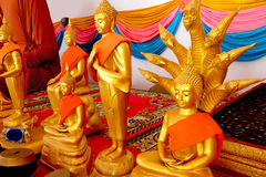 Golden Buddha Statue of Buddhism Temple in Thailand Background. Great For Any Use Stock Image