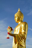 The golden Buddha Statue in Budhhamonthon,Thailand Stock Photo
