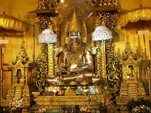 Golden Buddha statue in Burma. Made fully from gold Royalty Free Stock Image