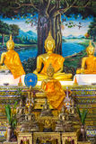Golden Buddha Statue In Chapel Royalty Free Stock Photo