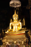 Golden Buddha statue in the church Royalty Free Stock Images
