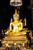 Golden Buddha statue in the church Stock Image