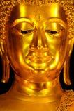 Golden Buddha statue. (close-up royalty free stock photo