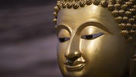 Golden Buddha statue close up Royalty Free Stock Photos