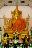 Golden buddha statue. Generally in Thailand any kind of art decoreted in buddhist church or temple area etc. created with donated by people to hire artist they Stock Photography