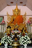 Golden buddha statue. Generally in Thailand any kind of art decoreted in buddhist church or temple area etc. created with donated by people to hire artist they Stock Photos