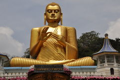Golden Buddha statue in Golden Temple, Dambulla, Sri Lanka Stock Images