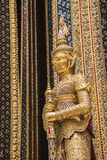 Golden buddha statue in the Grand Palace, Bangkok Royalty Free Stock Images