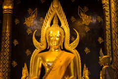 Golden buddha statue image in Phisanulok. Temple Thailand Stock Images