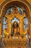 Golden Buddha statue at Inle lake of Myanmar Stock Photography