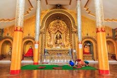 Golden Buddha statue at Inle lake of Myanmar Royalty Free Stock Image