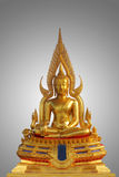 Golden buddha statue isolated. Of thailand Royalty Free Stock Photography