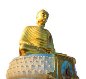 Golden buddha statue isolated Stock Images