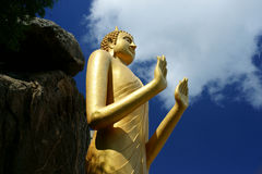 Golden Buddha Statue, Khao Takiab Stock Photo