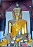 Golden Buddha statue of Lanna Stock Image