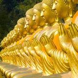 Golden Buddha statue. Golden Buddha at Magha Puja Buddhist Memorial park, Thailand Stock Image