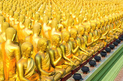Golden Buddha statue. Golden Buddha at Magha Puja Buddhist Memorial park ,Thailand Stock Photo