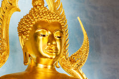 Golden Buddha statue in the Marble Temple or Wat Benchamabophit Stock Photo