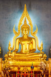 Golden Buddha statue in the Marble Temple or Wat Benchamabophit Royalty Free Stock Image