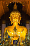 Golden Buddha statue, Nan, Thailand Royalty Free Stock Photos