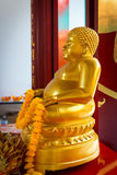 Golden Buddha Statue on an Ornate Altar at Canton Shrine Royalty Free Stock Images
