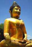 The golden Buddha statue on outdoor Royalty Free Stock Photos