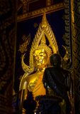 Golden buddha statue at Phisanulok in thailand Stock Images