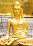Golden Buddha statue Shan style Royalty Free Stock Photography