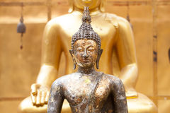 Golden buddha statue in the temple Stock Photography