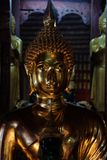 Golden Buddha. Statue of Buddha in the temple Stock Photo
