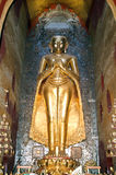 Golden Buddha statue on the temple of Ananda at Bagan Royalty Free Stock Image