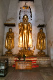 Golden Buddha statue on the temple of Ananda at Bagan Stock Photo