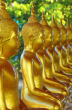 Golden buddha statue. In a temple,Thailand Royalty Free Stock Photo