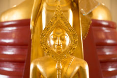 Golden Buddha statue in temple Royalty Free Stock Images