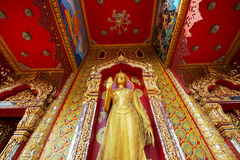 Golden Buddha statue in temple Royalty Free Stock Photography