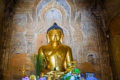 Golden Buddha Statue in Temple. Trip to Myanmar Burma Stock Photos