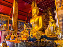 Golden buddha statue is Thai art Stock Images