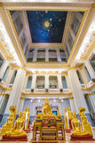 Golden Buddha statue at thai temple church,Sothon Temple Stock Image