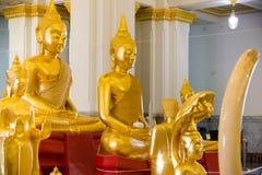 Golden Buddha statue at thai temple church,Sothon Temple Royalty Free Stock Photos