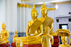Golden Buddha statue at thai temple church,Sothon Temple Royalty Free Stock Images