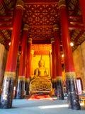 Golden Buddha statue in Thai temple Stock Image