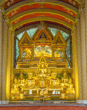 Golden buddha statue in Thai temple Stock Image