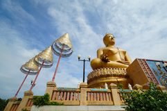 Golden buddha statue stock photography